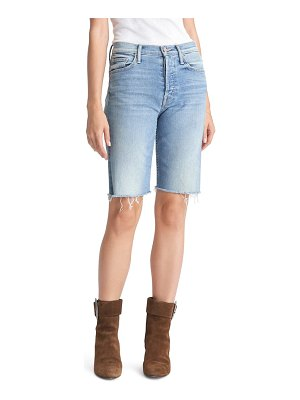 MOTHER the tomcat high waist denim bermuda shorts