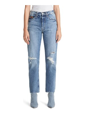 MOTHER the tomcat ripped high waist ankle jeans
