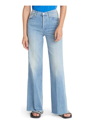 MOTHER the tomcat roller high waist fray wide leg jeans