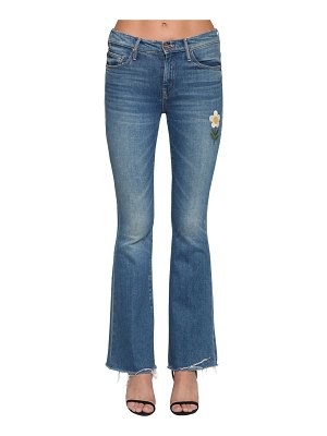MOTHER The weekender embroidered denim jeans