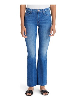 MOTHER high waist fray hem jeans