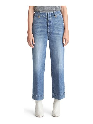 MOTHER the zipped greaser high waist ankle jeans