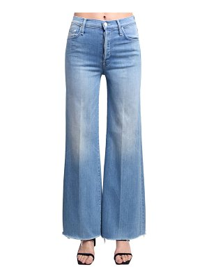 MOTHER Tomcat rolled wide leg high jeans