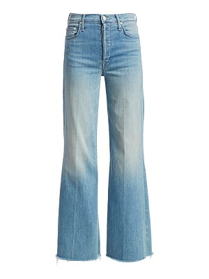 MOTHER tomcat roller frayed wide-leg jeans