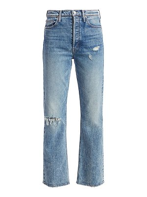 MOTHER tripper high-rise distressed cropped jeans