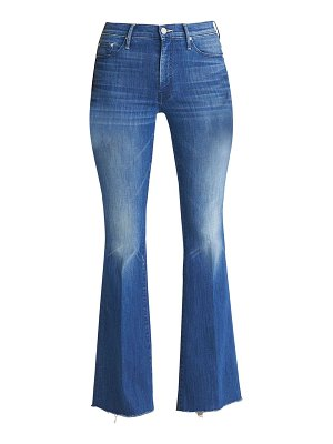 MOTHER weekender fray flare jeans