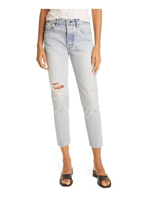 Moussy melvin high waist tapered skinny jeans