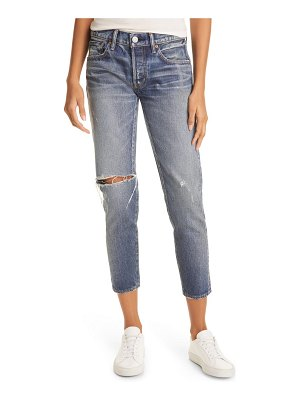 Moussy pittsgrove tapered nonstretch ankle jeans