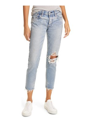 Moussy raleigh distressed tapered nonstretch ankle jeans