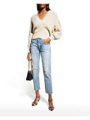 Moussy Vintage Aberdeen Tapered Distressed Jeans