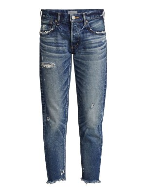 Moussy Vintage kelley distressed tapered jeans