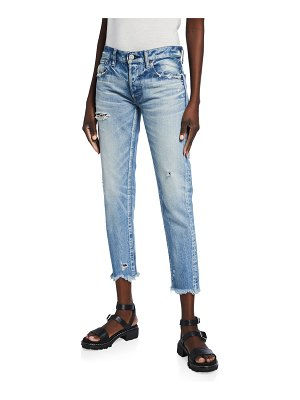 Moussy Vintage Kelley Tapered Distressed Cropped Jeans