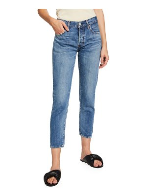 Moussy Vintage Macon Tapered Cropped Jeans