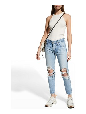 Moussy Vintage May Tapered Ankle Jeans