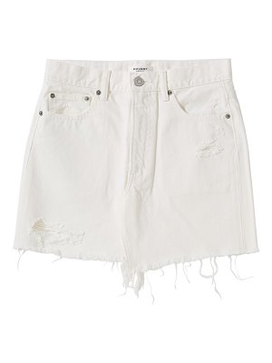 Moussy Vintage mv ripliy frayed hem denim mini skirt