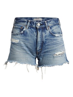 Moussy Vintage packard distressed denim shorts
