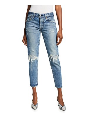 Moussy Vintage Wantage Tapered Cropped Jeans