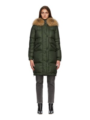 Mr and Mrs Italy green down parka