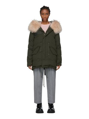 Mr and Mrs Italy green down puffer parka