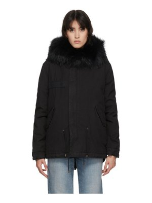 Mr and Mrs Italy mini fur army parka