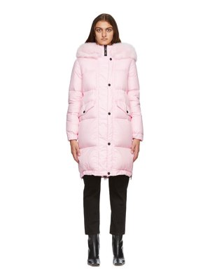 Mr and Mrs Italy pink down parka
