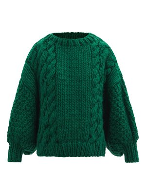 Mr Mittens balloon-sleeve cable-knit wool sweater