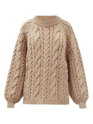 Mr Mittens maxi cable wool sweater