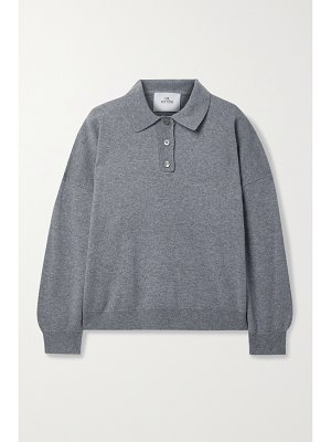 Mr Mittens mélange wool and cashmere-blend polo shirt