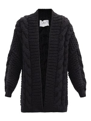 Mr Mittens oversized cable-knit wool cardigan