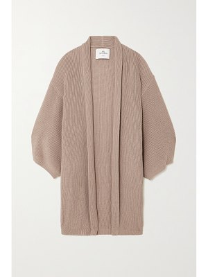 Mr Mittens oversized ribbed cotton cardigan
