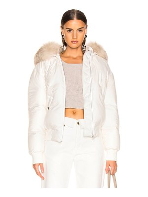 Mr & Mrs Italy Armstrong Classic Bomber with Groenlandia Fox Fur