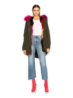 Mr & Mrs Italy Canvas Parka With Raccoon & Fox Fur Trim