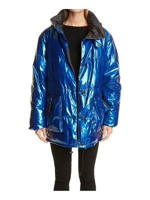 Mr & Mrs Italy glossed tech oversize down puffer coat