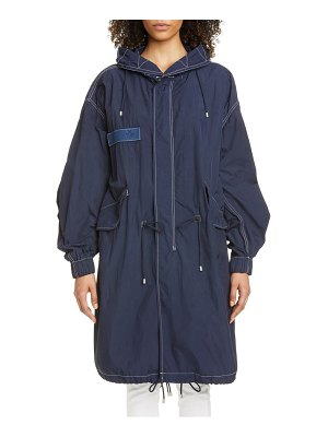Mr & Mrs Italy oversize nylon crepe hooded parka