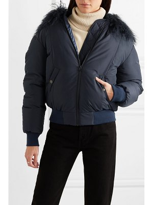 Mr & Mrs Italy shearling-trimmed down bomber jacket
