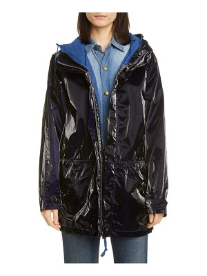 Mr & Mrs Italy tech coated velveteen parka