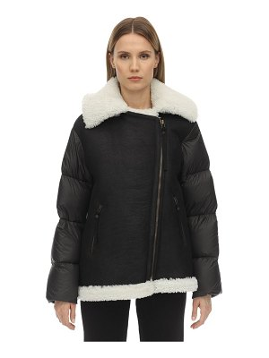MR&MRS ITALY Light micro fiber shearling down jacket