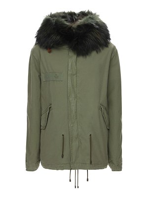 MR&MRS ITALY Mini length parka w/ fur trim
