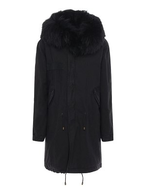 MR&MRS ITALY Parka coat w/ fur trim