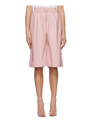MSGM artificial leather bermuda shorts