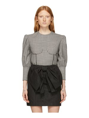 MSGM black and white breast detail blouse