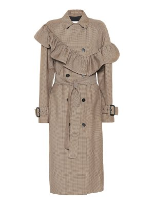 MSGM checked wool-blend coat
