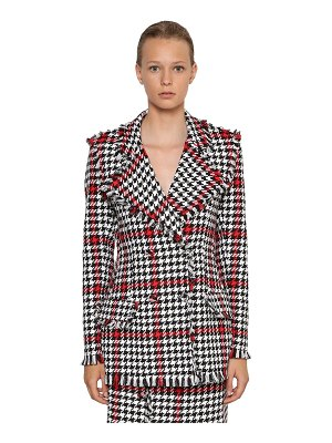 MSGM Cotton blend tweed blazer