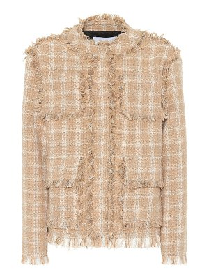 MSGM cotton-blend tweed jacket