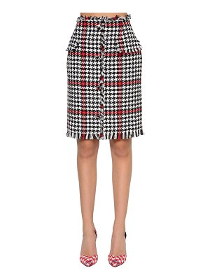MSGM Cotton blend tweed pencil skirt