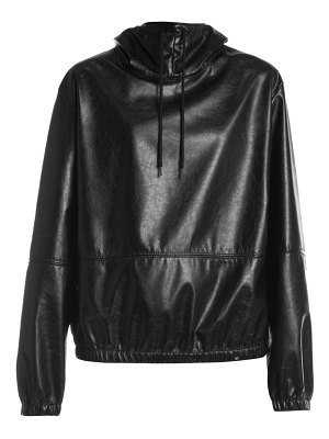 MSGM faux leather hoodie