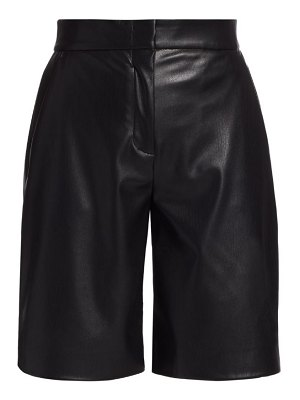 MSGM faux leather straight-leg shorts