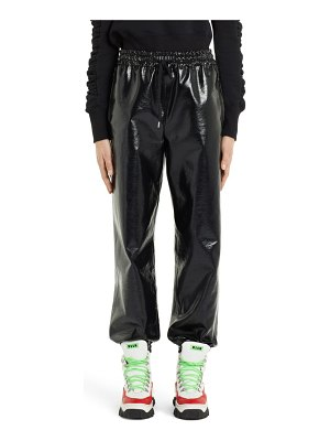 MSGM faux patent leather joggers