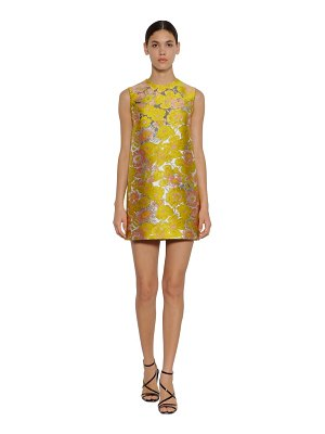 MSGM Floral brocade mini dress