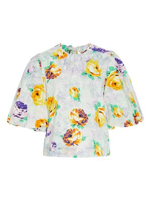 MSGM floral-print cotton top